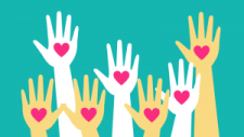 Acts of kindness helping hands clipart