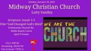 Sermon banner, January 24, 2021