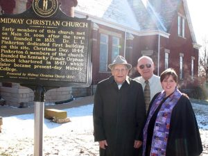 Pastor McColl and church members at unveiling of Historical Marker