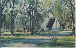 Midway Island Postcard - Midway Island Memorial Chapel