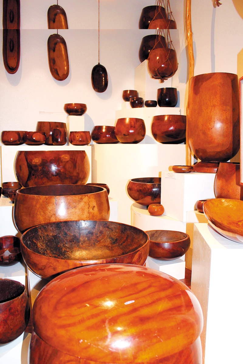 The large collection of umeke (wooden bowls) at Kauai Museum even has the envy of entities as prominent as Bishop Museum