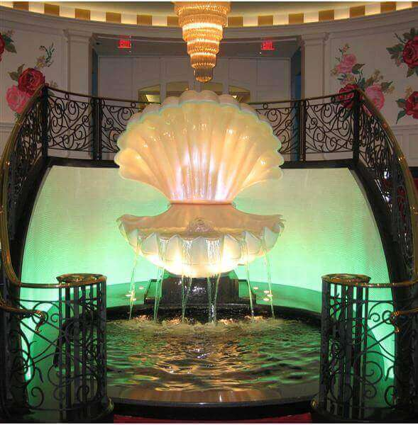 Custom Water Feature Indoor Fountain With Reflection Pool at Greenbrier Resort Casino