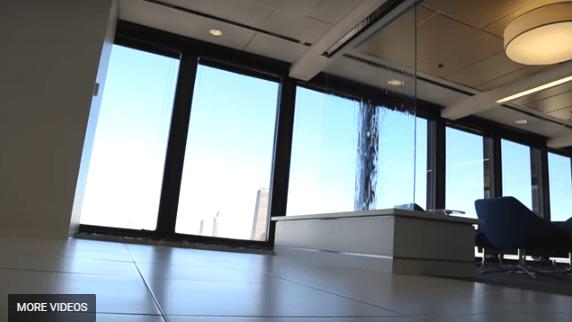 Custom Water Wall Frameless Glass Waterfall at American Medical Association Headqueters
