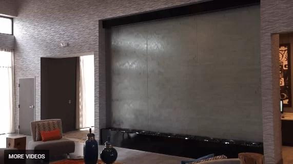 Custom Water Wall Indoor Glass Lobby Waterfall Holiday Inn Houston Texas