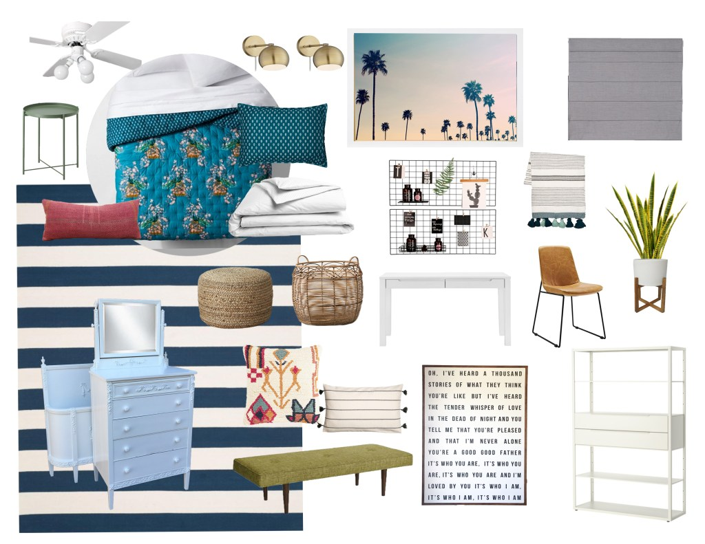 Moodboard Monday: A Modern Teen Bedroom With Vintage Hand Me Downs