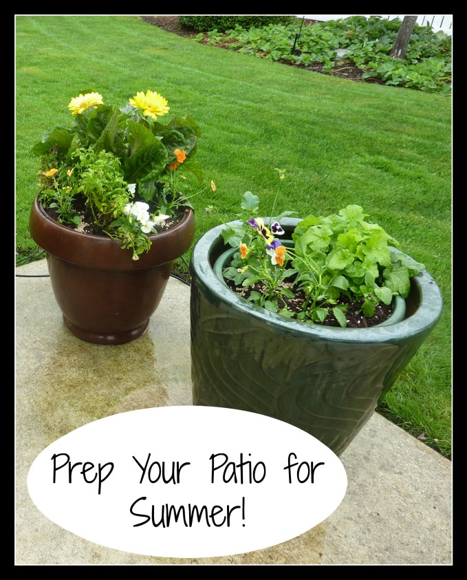 Prep Your Patio