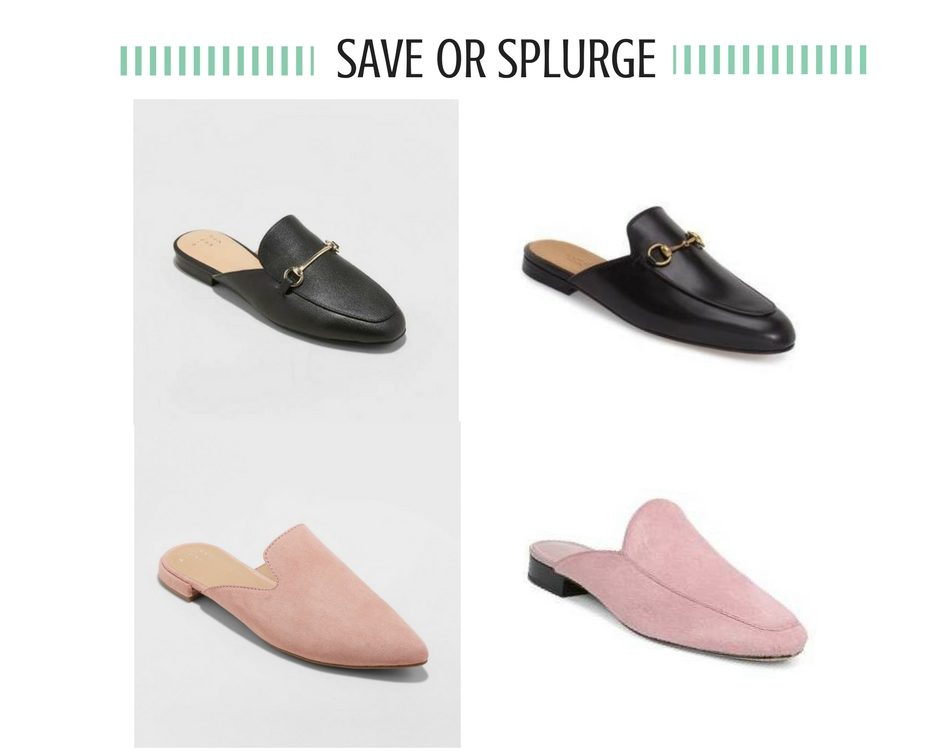 3d9fdad93f4 Mules  Mules are a great transitional shoe for spring. The black A New Day  pair below are an inexpensive dupe for the Gucci mules and have lots of  positive ...