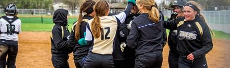 Varsity Softball, Legacy sweeps Mandan