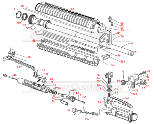 AR Upper Assembly Parts