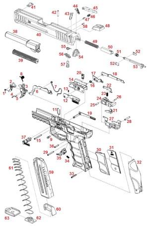 Heckler And Koch VP9 Parts