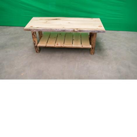 northern rustic pine log coffee table