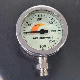 SCUBAPRO Pressure Gauge, Metal Case, BAR Metric, Gauge Only