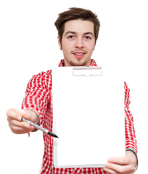 guy with list