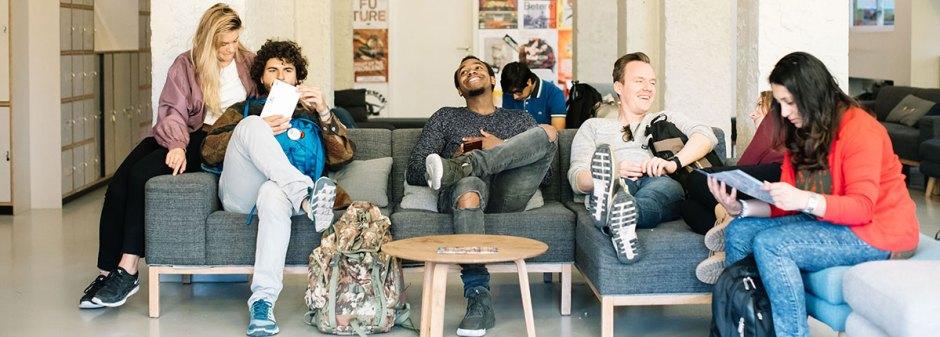 people socialising