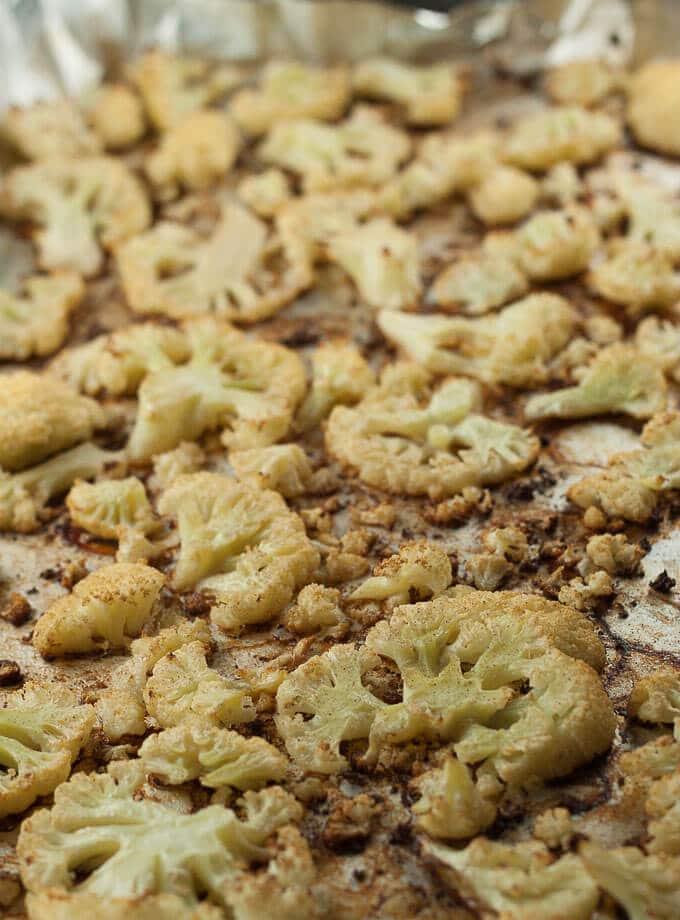 Roasted Cauliflower Corn Chowder