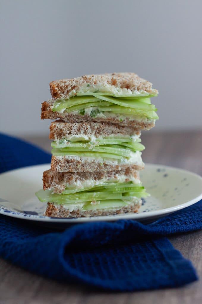 Jalapeno Cucumber Sandwich stack