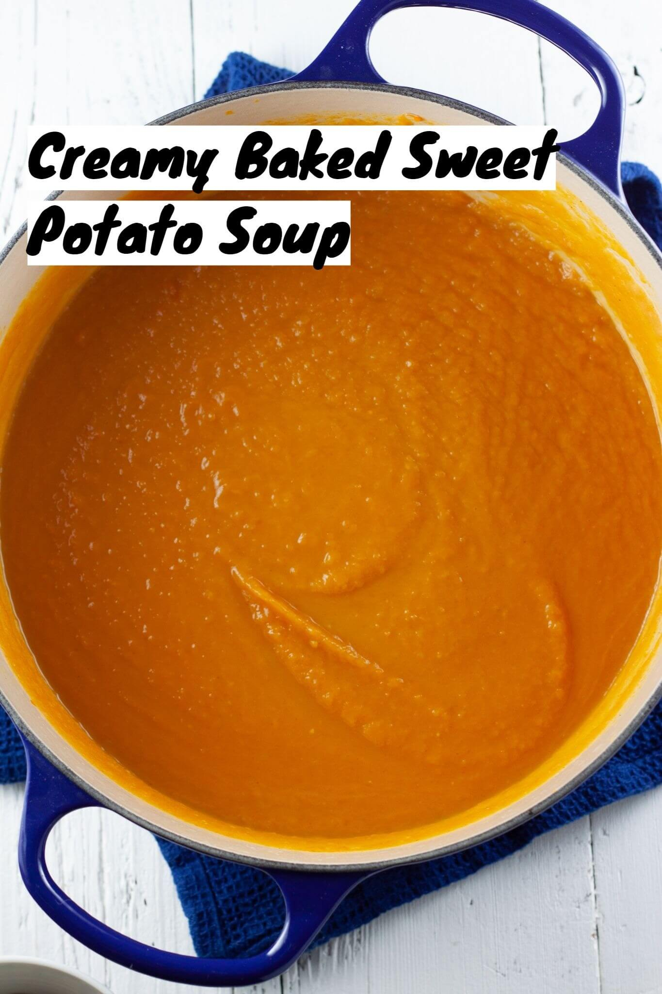 Creamy Baked Sweet Potato Soup