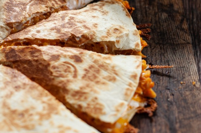 Buffalo Chickpea Quesadilla