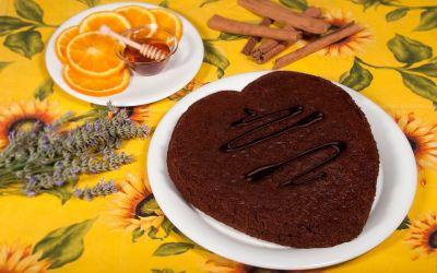Torta cioccolato e miele di acacia