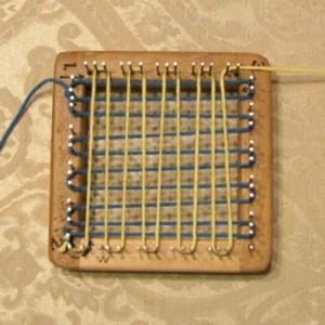 Pin Loom Weaving, step 2