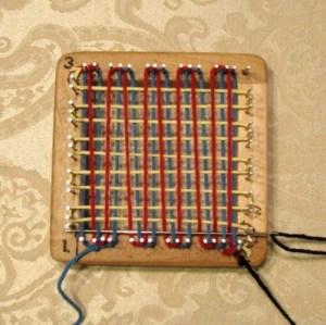 Pin Loom Weaving, step 5