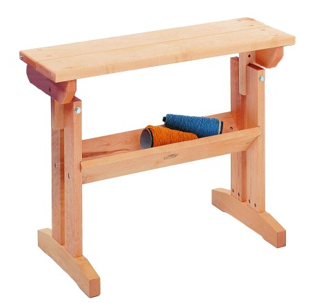 Schacht Loom Bench, shown in maple.