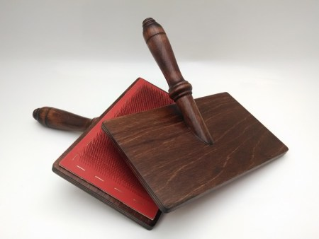 Kromski walnut carding paddles