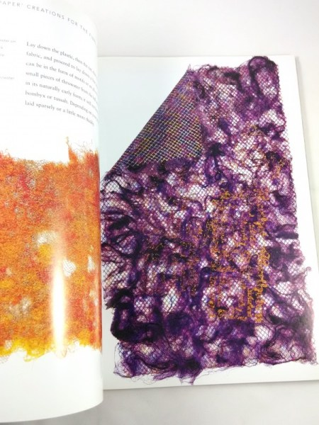 Inside peak Silk Paper Creations Book