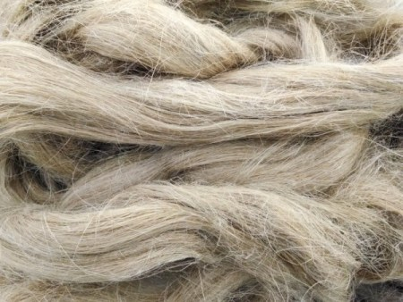 Water retted flax fiber