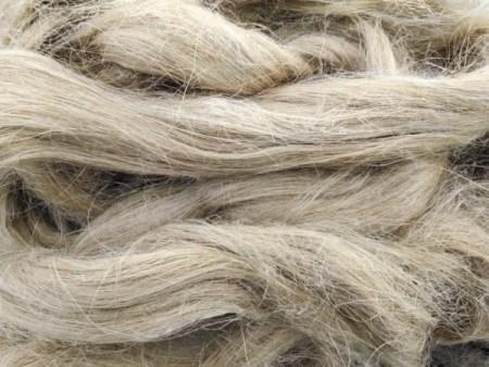 Water retted flax fiber