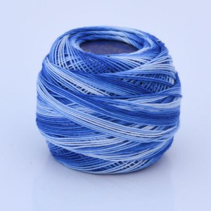 Variegated Dark Blue 80 Tatting Thread