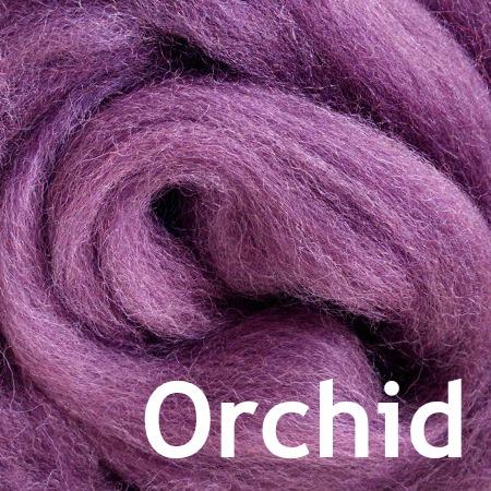 Orchid Wool Felting Fiber