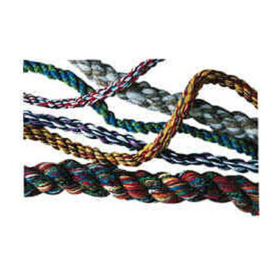 Examples of ropes and cords made with the Schacht Rope Machine.