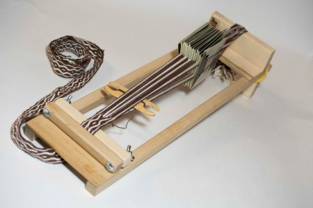 Beka loom set up for cardweaving