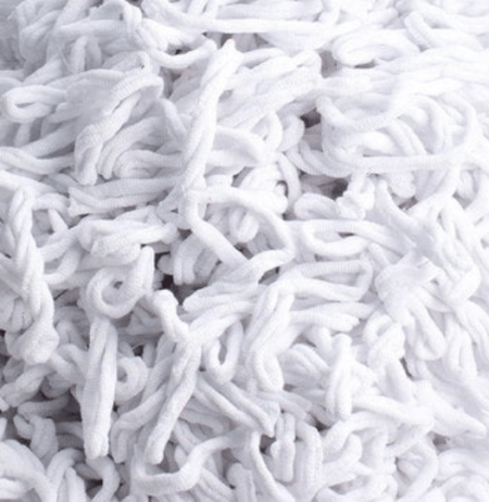White Potholder Loops