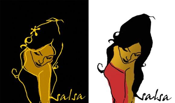 Illustratie logo Anabacoa dansschool