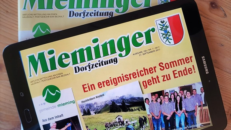 Mieminger Dorfzeitung, Ausgabe 156, Nr. 7, 21. September 2017, Foto: Mieming.online