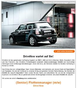 Sixt sucht Fachkräfte für DriveNow in Hamburg