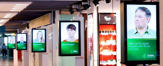 Neue Airport-Werbung von Europcar