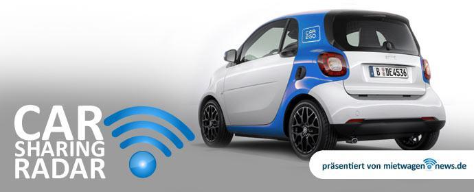 Carsharingradar heute mit car2go und DriveNow