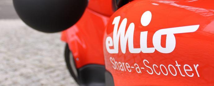 eMio Scootersharing kommt nach Berlin - Mitte März geht es los