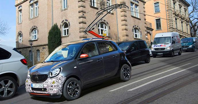 Car2Go testet neue Smarttechnoilogie am Smart forrail