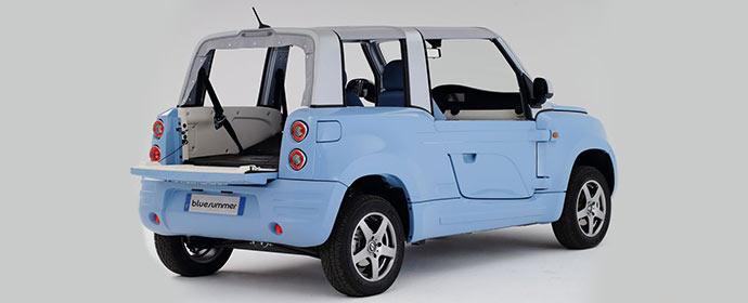Das Elektroauto Bolloré Bluesummer wird als Carsharingauto europaweit eingesetzt