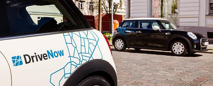 Das neuste Mitglied der DriveNow -Flotte ist der neue Minii. Im Sommer gesellt sich der BMW i3 hinzu.