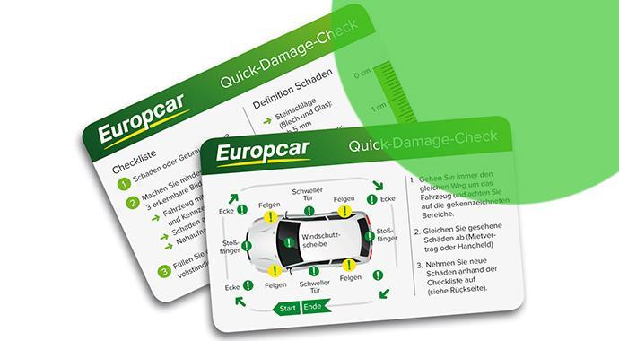 Schadenskarte - Europcar vereinfacht die Sache mit den Schäden