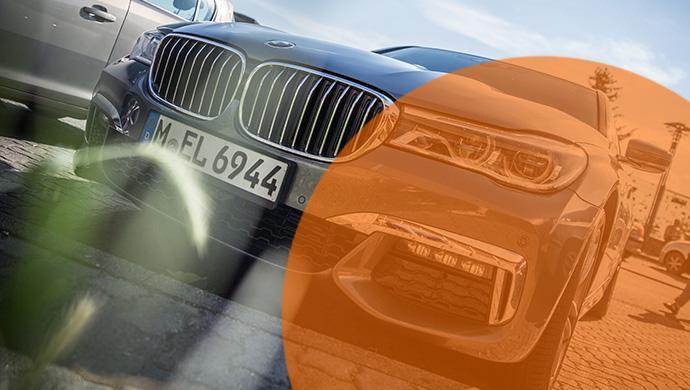 """Bei Sixt Luxury Cars gibt es unter anderm auch den BMW 7er - alle Sportwagen und Luxuslimousinen gebündelt in einer """"Garage"""""""
