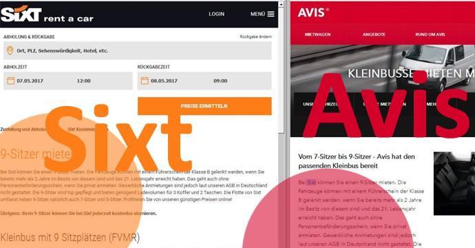 Sixt schreibt so gute SEO-Texte - dass Avis sie einfach kopiert