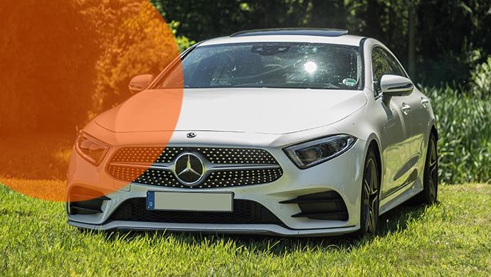 Mercedes-Benz CLS450 Coupé von Sixt - Bild Sundose für MietwagenTalk