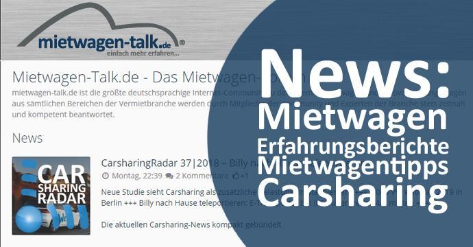 Die MietwagenNews findet Ihr ab September 2018 als festen Bestandteil des MietwagenTalks unter www.mietwagen-talk.de