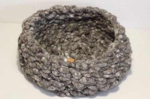 Katzenbett WOLLKUSCHLER Einmalig gray